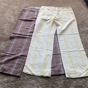 Set of Free People Linen Blend Pants